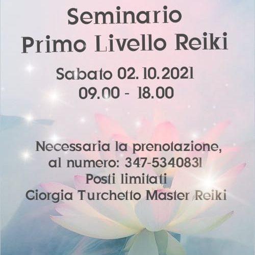 SEMINARIO PRIMO LIVELLO REIKI